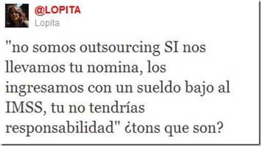 El OUTSOURCING, tons que son? by @lopita
