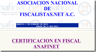 2do Boletín #ANAFINET 2012