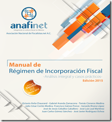 Y por fin disponible el MANUAL DE RIF ANAFINET 2015 DIGITAL